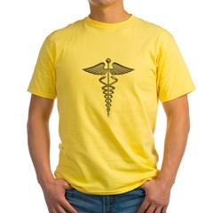 Silver Medical Symbol Yellow T-Shirt
