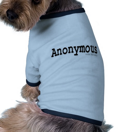 Anonymous Doggie Ringer T-Shirt