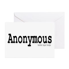 Anonymous Greeting Cards (Pk of 20)