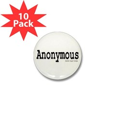 Anonymous Mini Button (10 pack)