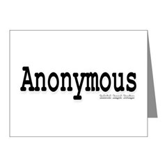 Anonymous Note Cards (Pk of 20)