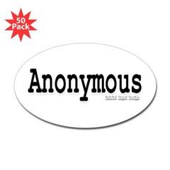 Anonymous Oval Sticker (50 pk)