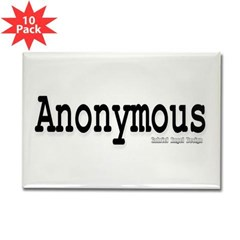 Anonymous Rectangle Magnet (10 pack)