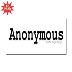 Anonymous Rectangle Sticker 10 pk