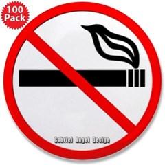 "No Smoking 3.5"" Button (100 pack)"