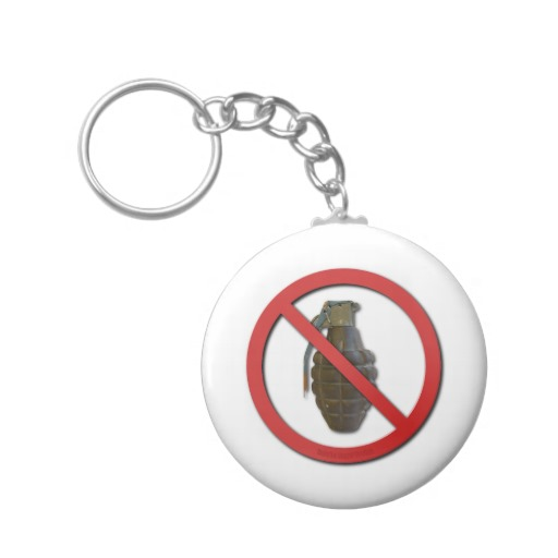 No Smoking Basic Button Keychain