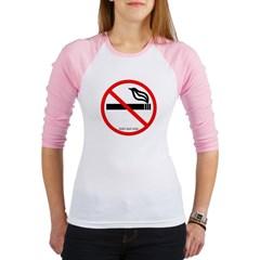 No Smoking Junior Raglan T-shirt