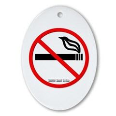 No Smoking Oval Ornament