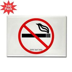 No Smoking Rectangle Magnet (100 pack)