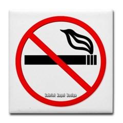 No Smoking Tile Coaster