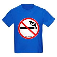 No Smoking Youth Dark T-Shirt by Hanes