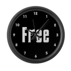 """Free"" Large Wall Clock"