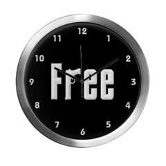 """Free"" Modern Wall Clock"