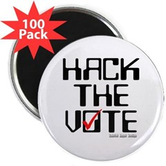 "Hack the Vote 2.25"" Magnet (100 pack)"