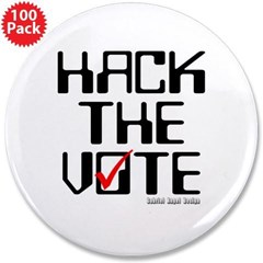 "Hack the Vote 3.5"" Button (100 pack)"