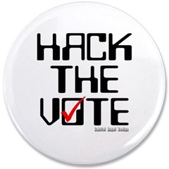 "Hack the Vote 3.5"" Button"