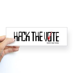 Hack the Vote Bumper Sticker