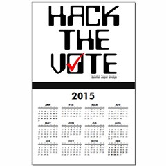 Hack the Vote Calendar Print