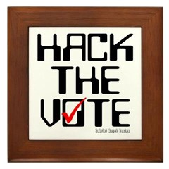 Hack the Vote Framed Tile