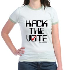 Hack the Vote Junior Ringer T-Shirt