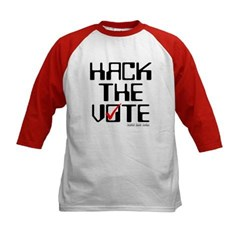 Hack the Vote Kids Baseball Jersey T-Shirt