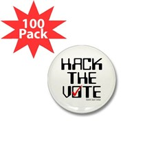 Hack the Vote Mini Button (100 pack)