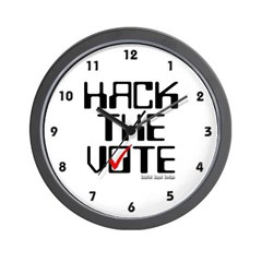 Hack the Vote Wall Clock