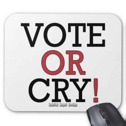 Vote or Cry! Mousepad