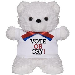 Vote or Cry! Teddy Bear