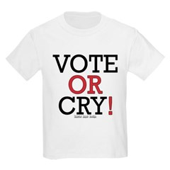 Vote or Cry! Youth T-Shirt by Hanes