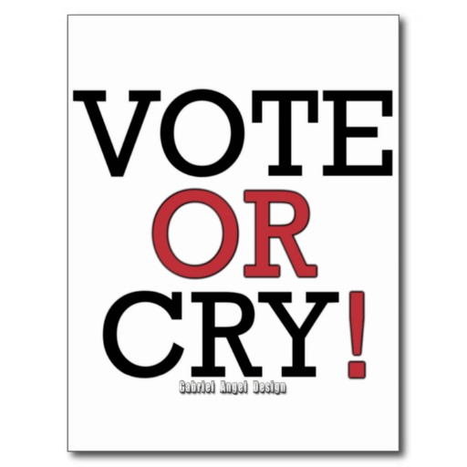 Vote or Cry Postcard