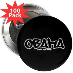 "Obama Graffiti 2.25"" Button (100 pack)"