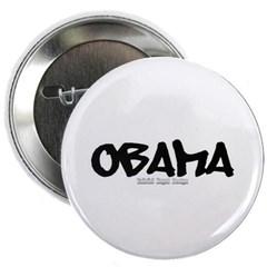 """Obama Graffiti 2.25"""" Button"""