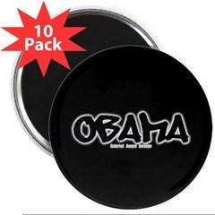 "Obama Graffiti 2.25"" Magnet (10 pack)"