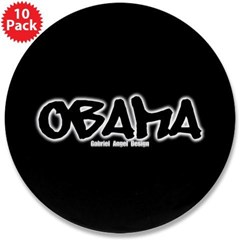 "Obama Graffiti 3.5"" Button (10 pack)"