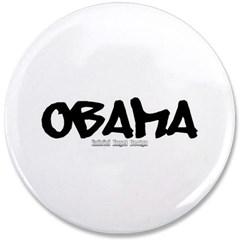 """Obama Graffiti 3.5"""" Button"""