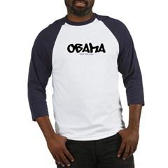 Obama Graffiti Baseball Jersey T-Shirt