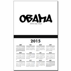 Obama Graffiti Calendar Print