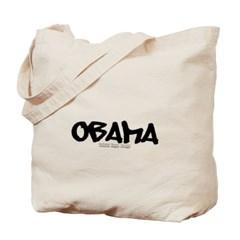 Obama Graffiti Canvas Tote Bag