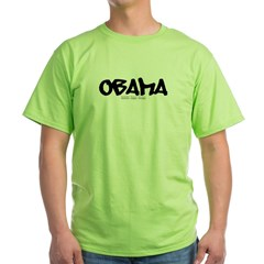 Obama Graffiti Green T-Shirt