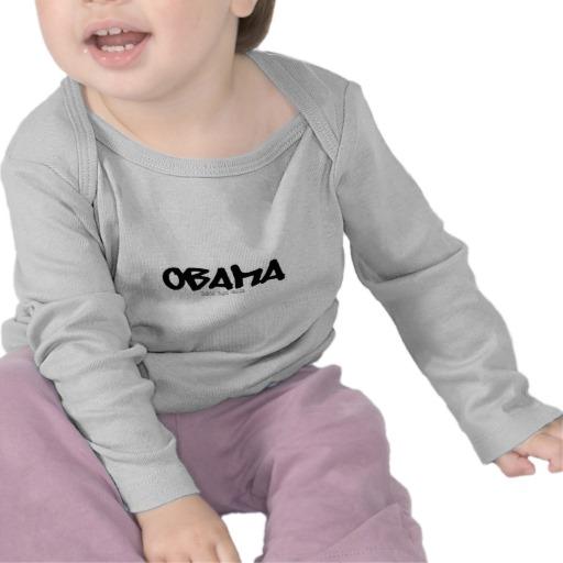 Obama Graffiti Infant Bella Long Sleeve T-Shirt