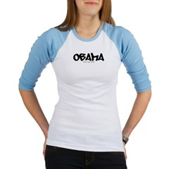 Obama Graffiti Junior Raglan T-shirt
