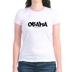 Obama Graffiti Junior Ringer T-Shirt