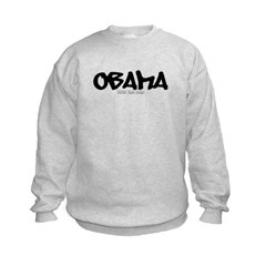 Obama Graffiti Kids Crewneck Sweatshirt by Hanes