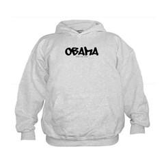 Obama Graffiti Kids Sweatshirt by Hanes