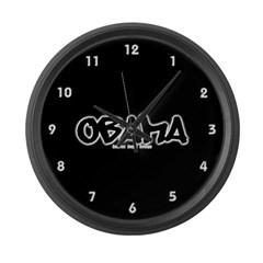 Obama Graffiti Large Wall Clock