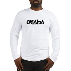 Obama Graffiti Long Sleeve T-Shirt