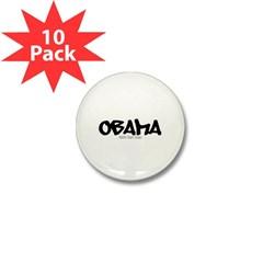 Obama Graffiti Mini Button (10 pack)