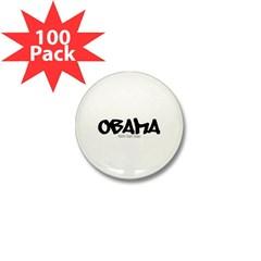 Obama Graffiti Mini Button (100 pack)
