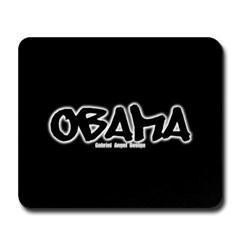 Obama Graffiti Mousepad